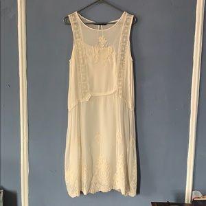 Zara Embroidered Organza dress with slip